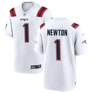 New England Patriots Cam Newton White Jersey